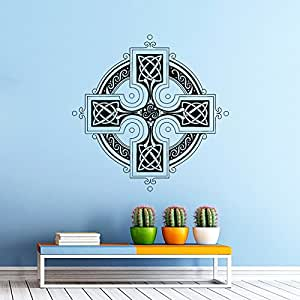 Celtic cross wall decal antique celtic cross wall decals for Irish home decorations