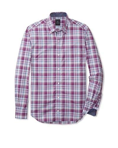 TailorByrd Men's Plaid Long Sleeve Shirt