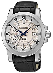 Seiko Men's SRG015 Premier Kinetic Direct Drive Watch