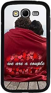 PrintVisa D8010 Quotes Love Couple Case Cover for Samsung Galaxy Grand 2 (Multicolour)