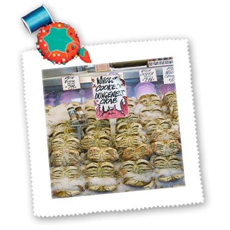 qs_95284_1 Danita Delimont - Markets - Washington, Seattle, Pike Place Market crab - US48 CSL0051 - Charles Sleicher - Quilt Squares - 10x10 inch quilt square
