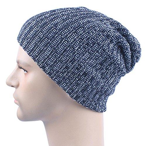 Iuhan Men Women Warm Crochet Winter Wool Knit Ski Beanie Skull Slouchy Caps Hat (Navy) (Zulu Zephyr compare prices)