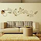 Floral Modern Wall Transfer / Removable Wall Graphic / Interior Decor X02