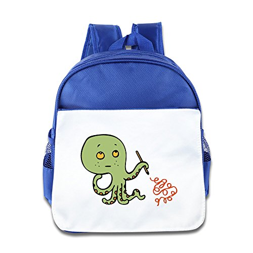 NATY Octopus Inspiration Unisex School Backpacks With RoyalBlue For Youth