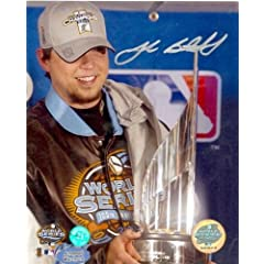 Josh Beckett Autographed Hand Signed 8x10 photo (Florida Marlins 2003 World Series...