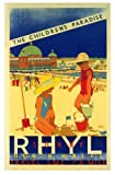 Vintage Poster Shop Vintage LMS Rhyl North Wales Railway Poster A3 Reprint