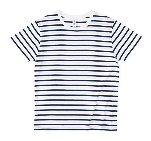 (トラス)TRUSS ナローボーダーTシャツ SNB-141 95WHT/NVY ホワイト×ネイビー M