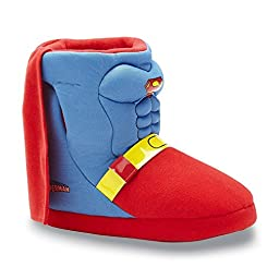 DC Comics Toddler Boys\' Superman Boot Slippers with Cape (2/3)