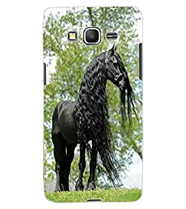 ColourCraft Gracious Horse Design Back Case Cover for SAMSUNG GALAXY GRAND PRIME DUOS TV G530BT