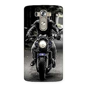 Stylish Bike Rider Multicolor Back Case Cover for LG G3