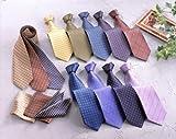 イタリア人厳選シルク「ネクタイ」12本組+チーフ3枚セット10160