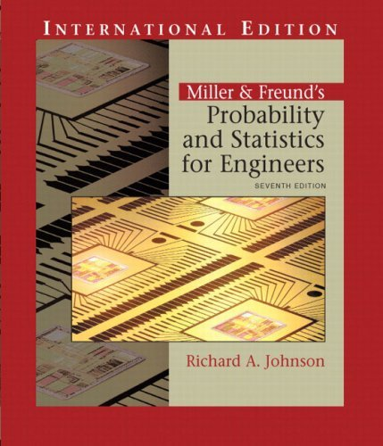 Miller and Freund's Probability and Statistics for Engineers by Richard Johnson (2004-06-01)