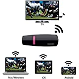 HDMI Streaming Media Player, GGMM® V-linker Wireless HDMI WiFi Display Dongle Share Videos, Photos, Docs, Live Camera, and Music from All Smart Devices to TV, Monitor or Projector. Supports DLNA & AirPlay. (Some Third Party Video Streaming Apps Not Supported.) - Perfect for Students & Business Meetings.