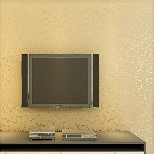 cloere-serie-jardin-fleurs-simples-rayures-non-tissee-decoration-papier-peint-et-le-mur-golden