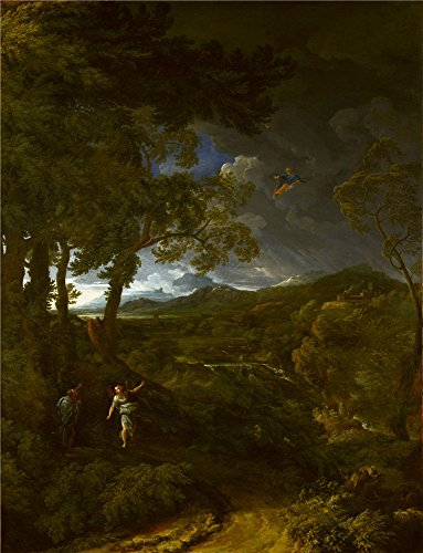 the-high-quality-polyster-canvas-of-oil-painting-gaspard-dughet-landscape-with-elijah-and-the-angel-