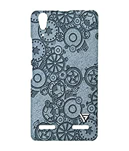 Vogueshell Machine Pattern Printed Symmetry PRO Series Hard Back Case for Lenovo A6000