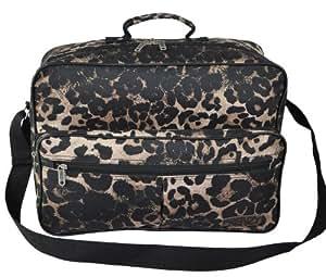 Worlds Lightest Cabin Size Flight Bag, weight 0.4Kg, dimension 42cm x 29cm x 16cm - Fits Ryanair/Easyjet (Black Leopard)