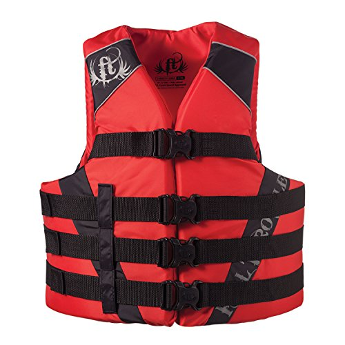 Full Throttle Adult Dual-Sized Nylon Water Sports Vest, Red, Large/X-Large