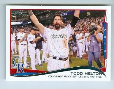 Todd Helton baseball card (Colorado Rockies All Star) 2014 Topps #253 Retirement Night