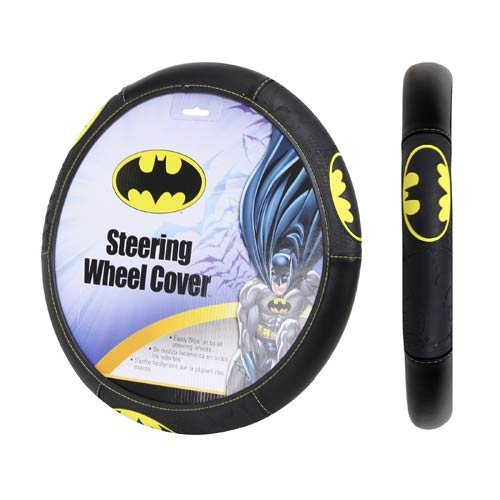 Plasticolor 006711R01 Black Steering Wheel Cover (Warner Brothers Batman Shattered) at Gotham City Store