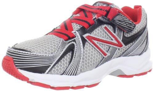 New Balance Kv554 Running Shoe (Toddler/Little Kid/Big Kid),Grey/Red,3 W Us Little Kid