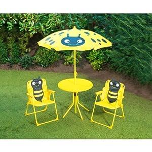 Kids Childrens Animal Patio Set Garden Furniture Bee Kitchen Home