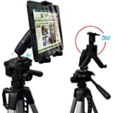 ChargerCity HDX2-RM8 Tablet Tripod Mount Periscope with Dual 360° Swivel Adjust Joint for 7-12-inch Tablets