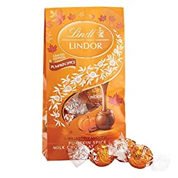 Lindor Chocolate Bag, Pumpkin Spice, 5.1 Ounce (Pack of 6)