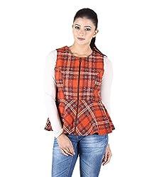 Owncraft Women's Woolen Jacket (Own_163_Orange_Medium)