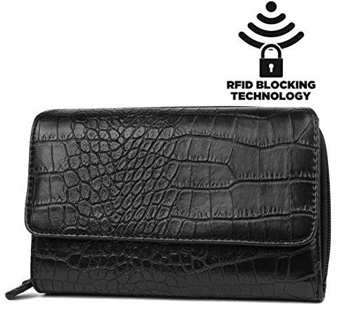 mundi-big-fat-womens-rfid-blocking-safe-wallet-clutch-organizer-crocodile-pattern-black