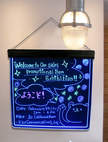 "Led Lighted Writable Message & Menu Board - 17"" X 17"" Magic Billboard Led Sign Display"