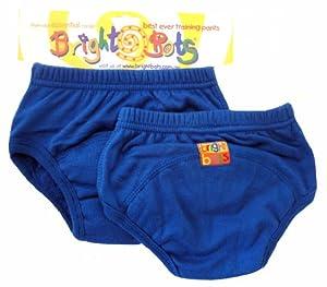 Bright Bots - Pantalones de entrenamiento para el orinal (2 unidades, grande, 24-30 meses), color azul en BebeHogar.com