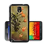 Liili Premium Samsung Galaxy Note 3 Aluminum Backplate Bumper Snap Case IMAGE ID 33235508 Vintage bouquet of orange roses in a glass vase on a wooden table