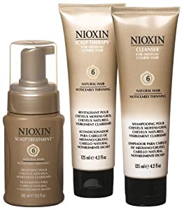 Nioxin Starter Kit, System 6 (Medium to Coarse/Untreated/Noticeably Thinning)
