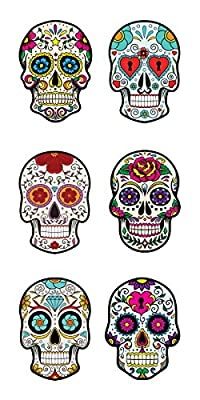 Paper House Productions ST-2284E Photo Real Sticky Pix Stickers, Sugar Skulls, 6-Pack from Paper House Productions