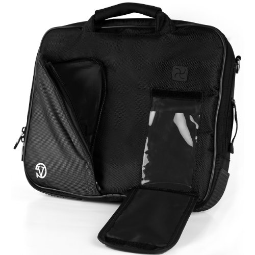 Best Buy! VanGoddy Pindar Sling PRO Deluxe Shoulder Messenger Carrying Bag JET DARK BLACK for Micros...