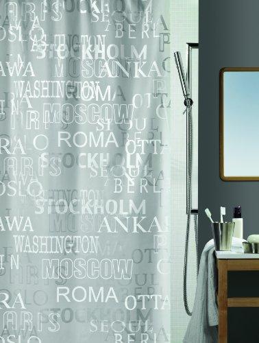 Spirella Cities Silver 10.13044 Tenda per doccia 180x200 cm