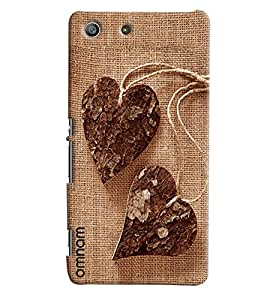 Omnam Heart Leaves Hanging On Jute Printed Designer Back Cover Case For Sony Xperia M5