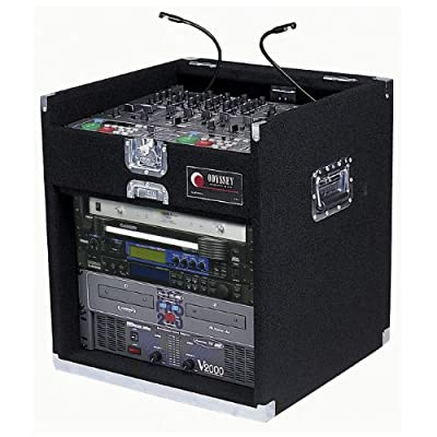 Odyssey CXG908 Carpeted Combo Rack With Recessed Hardware: 9u Top, 8u Bottom by Odyssey Innovative Designs
