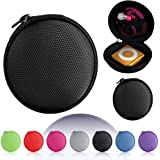 Magic Global Gadgets® - Black MP3 / Earphones / Headphones / iPod Shuffle / iPod Nano 6 / Apple Watch Sport / Memory Cards / Storage Bag / Gym Use / Universal Carrying Clamshell Pouch Case Cover