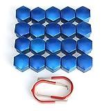 17 ミリメートル車合金ホイール トリム ナット abs プラスチック青キャップ ボルト カバー ナット セット