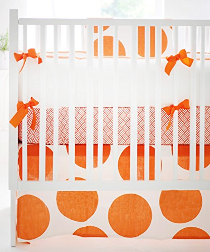 New Arrivals 4 Piece Crib Bed Set, Spot on Tangerine