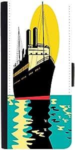 Snoogg Passenger Cargo Ship Designer Protective Phone Flip Case Cover For Phicomm Energy 653 4G