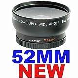 Neewer 52mm WIDE-ANGLE Lens ~INCLUDING BAG~ FOR NIKON D40 D50 D60 D70 D80 D ....