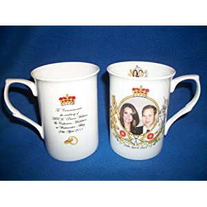 HRH Prince William and Kate Middleton Bone China Wedding Mug