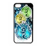 iPhone 5c hard back case with Christmas smow flake style designed by padcaseskingdom