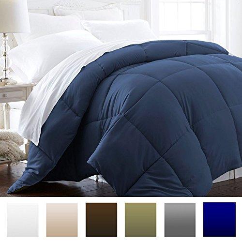 Beckham-Hotel-Collection-Lightweight-Luxury-Goose-Down-Alternative-Comforter-Hypoallergenic-FullQueen-NavySolid