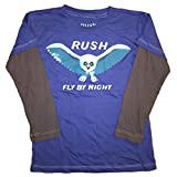 Rush Fly By Night Long Sleeve Little Boys T-Shirt, Blue