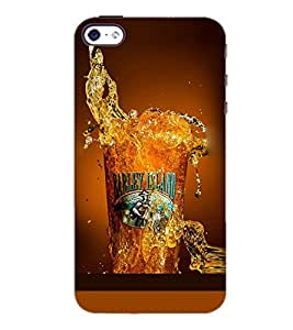 PrintDhaba Beer Glass D-2086 Back Case Cover for APPLE IPHONE 4S (Multi-Coloured)