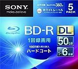 SONY 日本製 ビデオ用BD-R 追記型 片面2層50GB 6倍速 ホワイトプリンタブル 5枚パック 5BNR2VGPS6
